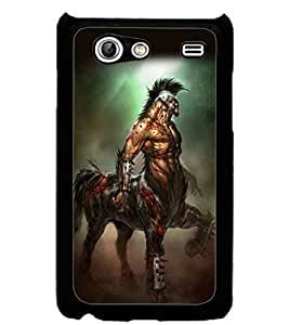 ColourCraft Horse Warrior Design Back Case Cover for SAMSUNG GALAXY S ADVANCE I9070