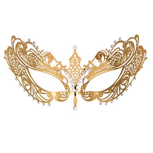 Toyvian Maskerade Masken Venezianische Maskerade Masken Kostüm für Party Hochzeit Zubehör (Golden)
