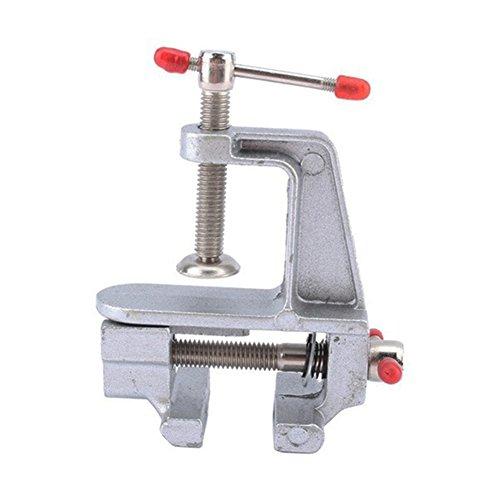 8,9cm Aluminium klein Juweliere Hobby Klemme auf Tisch Bench Vise Mini-Werkzeug Schraubstock für Modellbau, Heimwerker Tisch Miniatur Vise