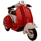 Flying Toyszer Die Cast Metal Scooter Vehicle Toy With Pull Back Action - Red
