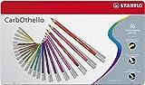 Matita colorata Premium - STABILO CarbOthello - Scatola in Metallo da 36 - Colori assortiti