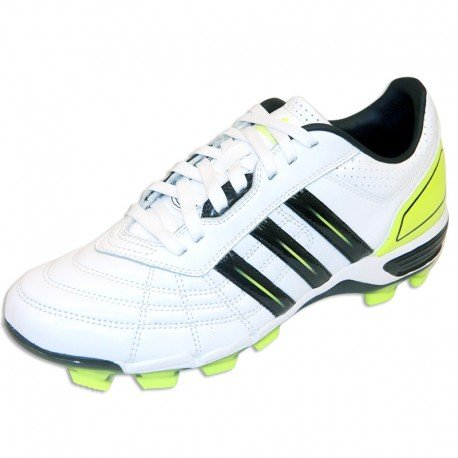 118 PRO FG - Chaussures de Rugby Adidas Blanc/Noir/Fluo