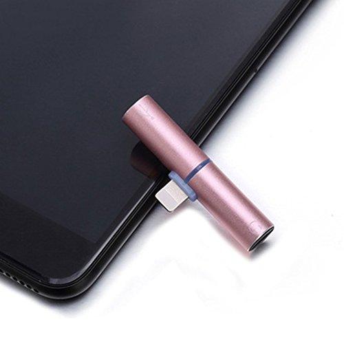 Myfei 2en 1double fonction casque audio sans fil adaptateur de Lightning, adaptateur répartiteur pour écouteurs chargeur convertisseur pour iPhone 7, compatible avec iOS système 10.3