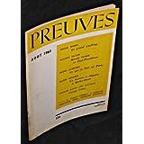 Preuves. n°126. Août 1961