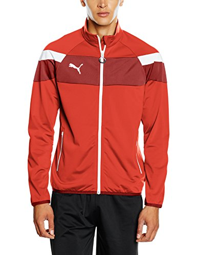 PUMA Herren Jacke Spirit II Woven Jacket red-White, XL -