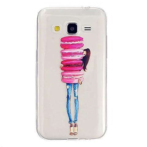 Embrasse Anneaux Pompon - MOTOUREN Coque pour Samsung Galaxy Core Prime