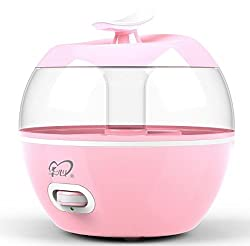 Newtronics Cute Apple Shaped Room Office Home Electric Air Purifier Aroma Diffuser Room Freshener Drop Shape Ultrasonic Humidifier - Pink Colour