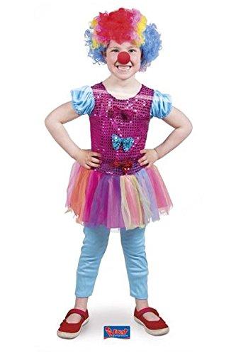 Kleidung für Mädchen, Größe S, mehrfarbig (Clown Mädchen Kostüme)