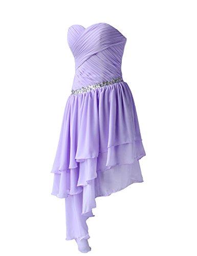 Dressystar Robe de femme Robe de soirée/bal courte, à Traîne Asymétrique,en Mousseline Menthe