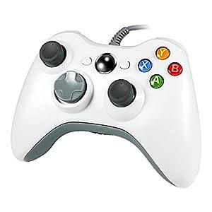 Wetoph Xbox 360 Controller, PC Controller, GD03 USB Gamepad mit Kopfhörer-Steckplatz Für Xbox360 und PC (Windows XP / 7/8/10) Weiß