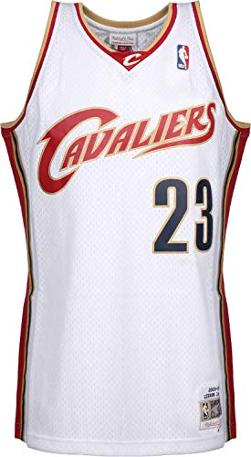 a2a93a42d1a0 Mitchell & Ness LeBron James #23 Cleveland Cavaliers 2003-04 Swingman NBA  Jersey White
