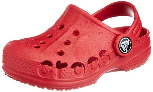 Crocs, Baya Sabot K, Zoccoli e sabot, Unisex - bambino Rosso (Pepper)
