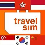 Prepaid TravelSIM Welt: China, Hongkong, Südkorea, Singapur, Indonesien und Thailand (SMS/Anrufe/Daten 3G,4G) // 15 € Startguthaben / 0,015 €/MB/Keine Internet-Zensur