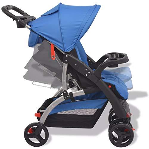 Festnight Baby Stroller Baby Pushchair| Lightweight Foldable Baby Infant Travel Pushchair| Baby Buggy Pram for Newborn Toddler, For Children From Birth to 15kg, Blue  Festnight