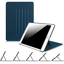 Fintie iPad Air 2 Funda - [5 Angles] Súper Thin Fit Funda Carcasa Smart Case con Stand Función y Auto-Sueño / Estela para Apple iPad Air 2 (iPad 6th Generación 2014 Versión) 9.7 Inch iOS Tableta, Azul Oscuro