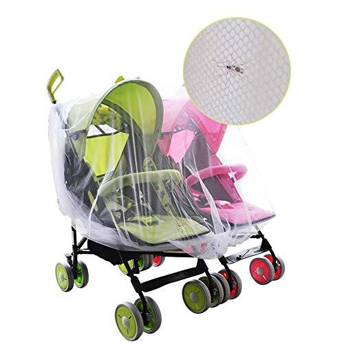 Enjoyyouselves Moskitonetz Zwillinge Kinderwagen Groß, elastisch und atmungsaktiv Ideal für Kinderwagen, Babybett, Pack and Play, Stubenwagen, Laufgitter