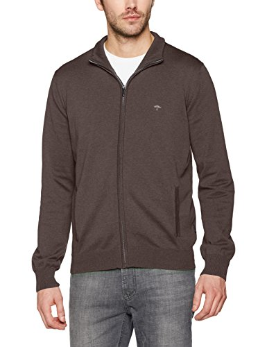 FYNCH-HATTON Herren Strickjacken Cardigan-Zip Braun (earth 860)