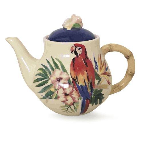 Burton und Burton 9732322tropischen Insel Parrot Keramik Teekanne, Multicolor (Burton Teekanne Burton)