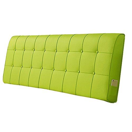 HFF Europäische Nachtkissenunterlage Rückenlehne Lendenkissen Kunstleder-Kissenbezug Größe 5 - für Betten ohne Kopfteil (Color : A, Size : 180 * 10 * 60cm)