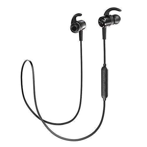 TaoTronics Bluetooth Kopfhörer 4.1 In Ear Wireless magnetisches Headset 8 Stunden Spielzeit IPX6 Spritzerfest CVC 6.0 Geräuschunterdrückung MEMS Mikro für iPhone, iPad, Samsung, Huawei, HTC usw. (Tao Bluetooth)