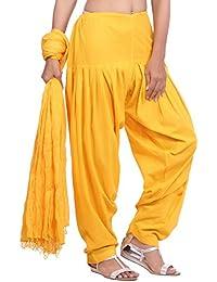 Jaipur Kurti Pure Cotton Patiala Salwar And Dupatta Set (Yellow)
