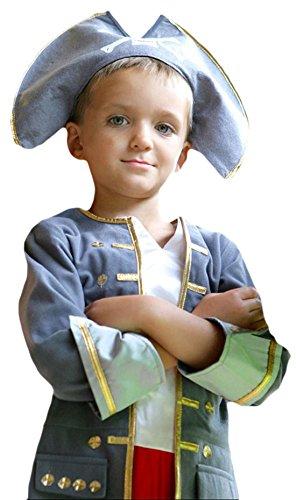 Zauberclown - Jungen Karneval Komplett Kostüm Piraten Kapitän , Grau, Größe 116-128, 6-8 Jahre (7 Johnny Depp Kostüme)