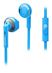 Philips SHE3205BL/00 In-Ear Headphones with Mic (Blue)
