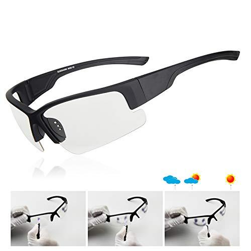 WBAHJMänner Angeln Sonnenbrille UV400 Verfärbung Fischer Fahren Camping Angeln Brille HD Angeln Brillen