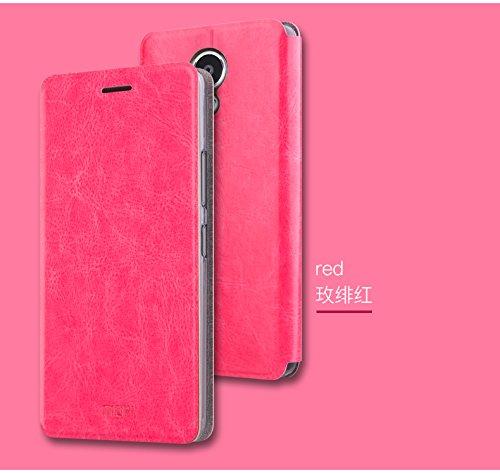 Custodia Meizu M5S / Meizu Meilan 5S,JMGoodstore Flip Caso Skin Supporto in Pelle Premium Portafoglio TPU Bumper cover 360 Gradi della copertura completa +Pellicola Vetro Temperato per Meizu M5S / Meizu Meilan 5S Pink