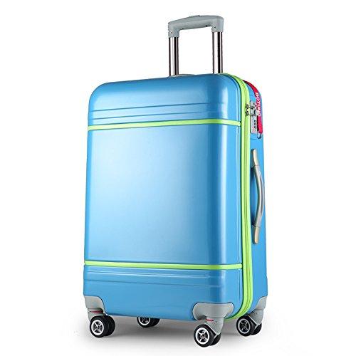 ABS + PC Aluminium-Alu-Trolley-Gehäuse 360 ° Stummschürze Hart Passwort Gepäck Tasche ( Farbe : 2 , größe : 20 inch ) 1