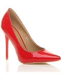 Donna tacco alto lavoro festa elegante scarpe de moda décolleté a ... ea6eef33c0e