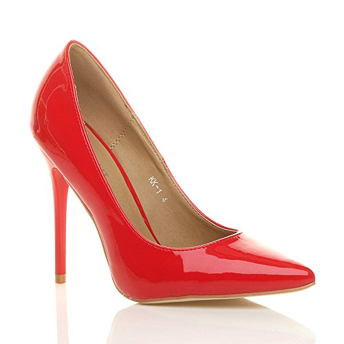 WOMENS LADIES HIGH HEEL POINTED COURT SMART PARTY WORK SHOES PUMPS SIZE...