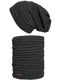 Hilltop Winter Set für Mann und Frau: warmer Schal mit Teddy Fleece und passende Mütze in verschiedenen Farben