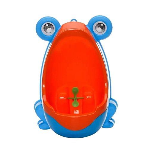 greencolourful Cartoon - Frosch Baby Jungen Pipi Training Übung Mini Toilet Design Urinal Set (Blue)