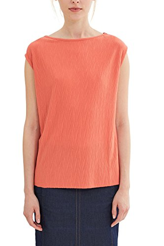 ESPRIT Collection Damen 047EO1K003 T-Shirt, Burnt Orange 815, 36 (Herstellergröße: S) - Burnt Orange T-shirt