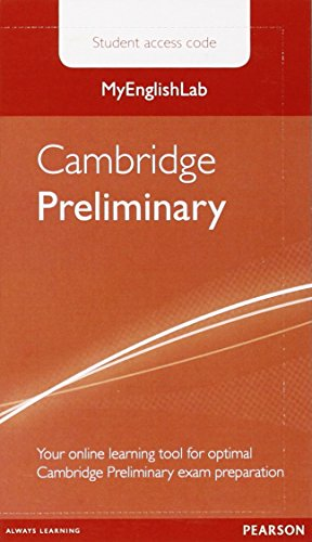 MyEnglishLab Cambridge Preliminary Standalone Student Access Card (Exam MELs)