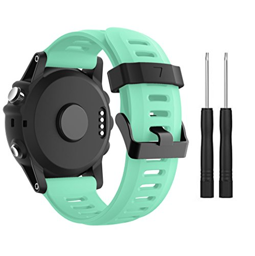 Garmin Fenix 3/Fenix 5 x reloj banda, Yayuu suave silicona reloj accesorio correa de repuesto para SMART Garmin Fenix 3/Fenix 3 HR/Fenix 5 x reloj, blanco