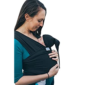 Baby Wrap Sling Organic Stretchy Carrier | UK/EU Safety Tested | Made in UK by Joy and Joe ® | Suitable from Birth to 16Kg | With Hat, Bag and Full Colour Instruction (Black) Baby Bjorn Perfect first baby carrier for a newborn Small and easy to use 3D Mesh - Cool and airy mesh fabric, with an incredibly soft inner layer next to your newborn's skin 11