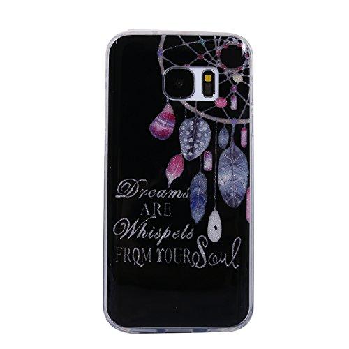 Clear Skin Armband (Samsung Galaxy S7 Hülle, Chreey Glitzer Handyhülle Niedlich Mode Süß Temperament Muster Weiche TPU Silikonhülle Skin Case Ultra Dünn Kratzfest Hülle Backcover [Dream])