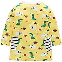 Vestido para niñas con estampado de dibujos animados a rayas, vestidos, informales