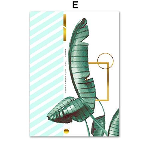 Stil, Palm-baum-lampe (XWArtpic Aquarell Tropical Palm Leaf Monstera Nordic Poster Und Drucke Wandkunst Leinwand Malerei Wandbilder Für Wohnzimmer Decor E 60 * 100 cm)