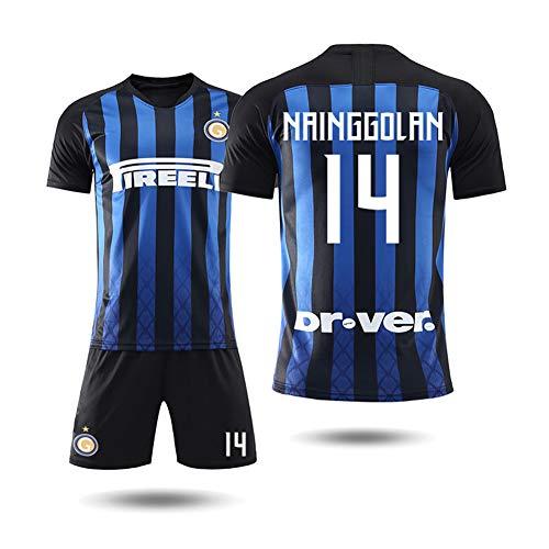 COOLBOY 14 NAINGGOLAN, Inter Mailand 18-19 Personalisierte Fußball Jersey & Shorts, Geschenke für Kinder Erw. Jungen Baby Fußball T-Shirt Bedrucken,28