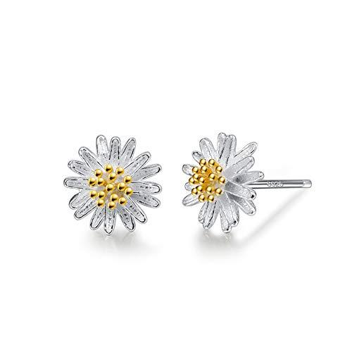 Gänseblümchen Ohrstecker Damen 925 Sterling Silber Ohrringe Für Mädchen, Kleines Gänseblümchen ZENI SILVER