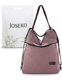 JOSEKO Segeltuch Vintage Rucksäcke Damen Schultertasche Multifunktionsbeutel für Arbeit Schule Reise