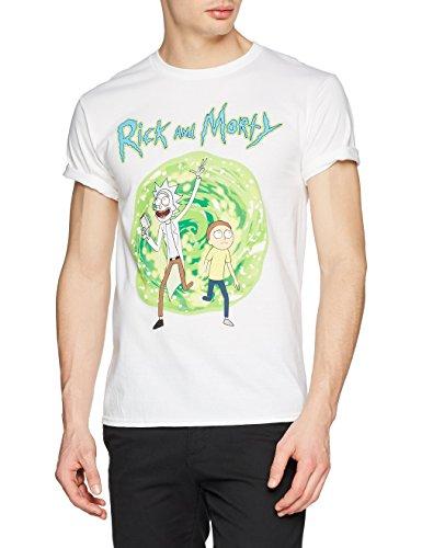 I-D-C CID Rick and Morty-Portal, Camiseta Para Hombre, Blanco, X-Large