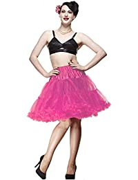 Hell Bunny Petticoat SWING SHORT pink/pink