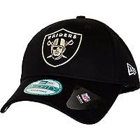 Oakland Raiders New Era 940 Liquid Metal Black Cap