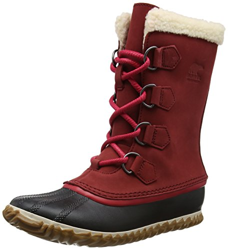 Sorel Damen Caribou Slim Schneestiefel, Rot (Red Element), 40 EU Womens Pac Boots