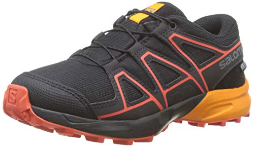 Salomon Speedcross CSWP J, Zapatillas de Trail Running Unisex Niños, Negro/Naranja Black/Tangelo/Cherry...