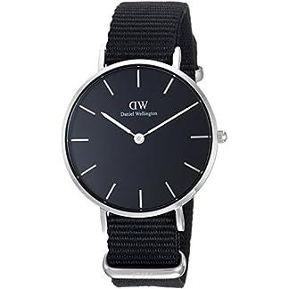 Daniel Wellington Reloj Analógico para Mujer de Cuarzo con Correa en Nailon DW00100216